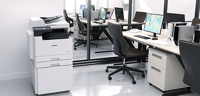 Robusni i moćni A3 crno-beli multifunkcijski štampači – Canon imageRUNNER 2425, pametni i bezbedni A3 štampači.
