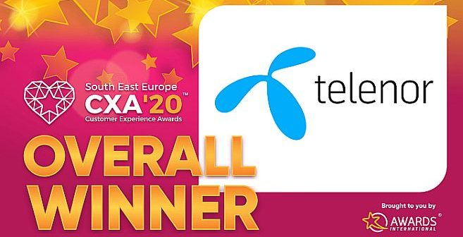 Telenor pobednik takmičenja  South East Europe Customer Experience Awards