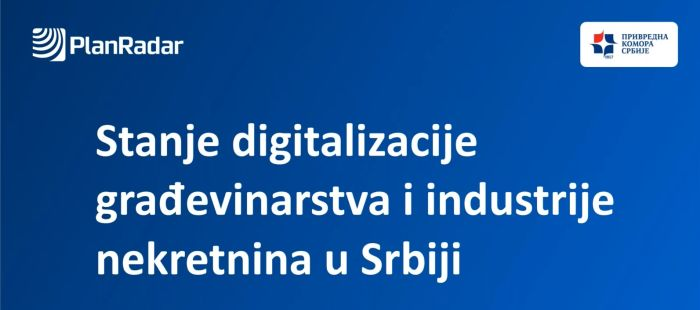 Rezultati istraživanja o stepenu digitalizacije u građevinarstvu i industriji nekretnina u Srbiji pokazali da 3/4 domaćih kompanija i dalje koristi samo tradicionalne tehnologije za poslovanja