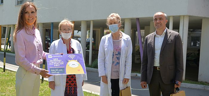 SBB donirao internet i televiziju za najmlađe pacijente u Kliničkom centru Niš